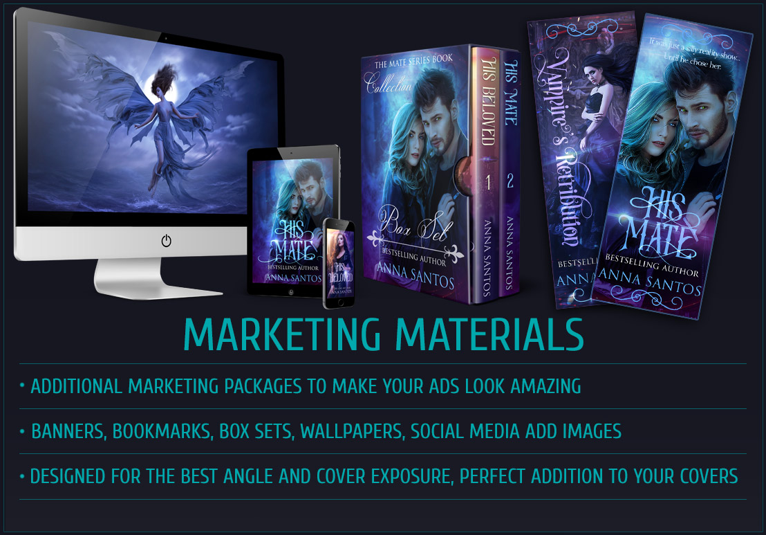 book cover design marketing materials