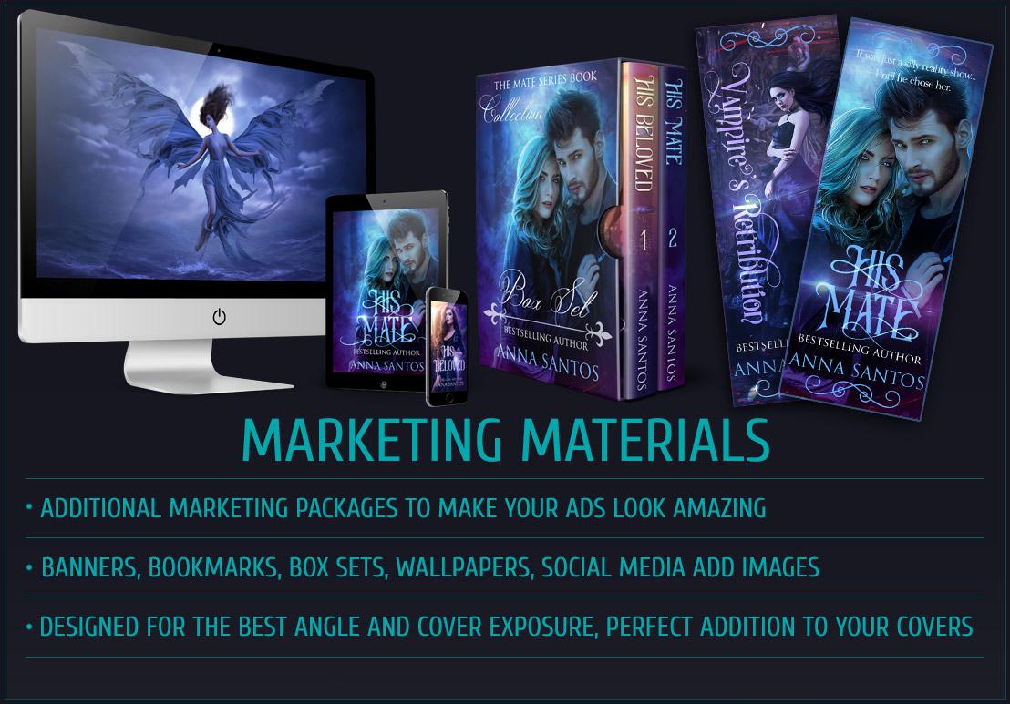 book cover design marketing materials