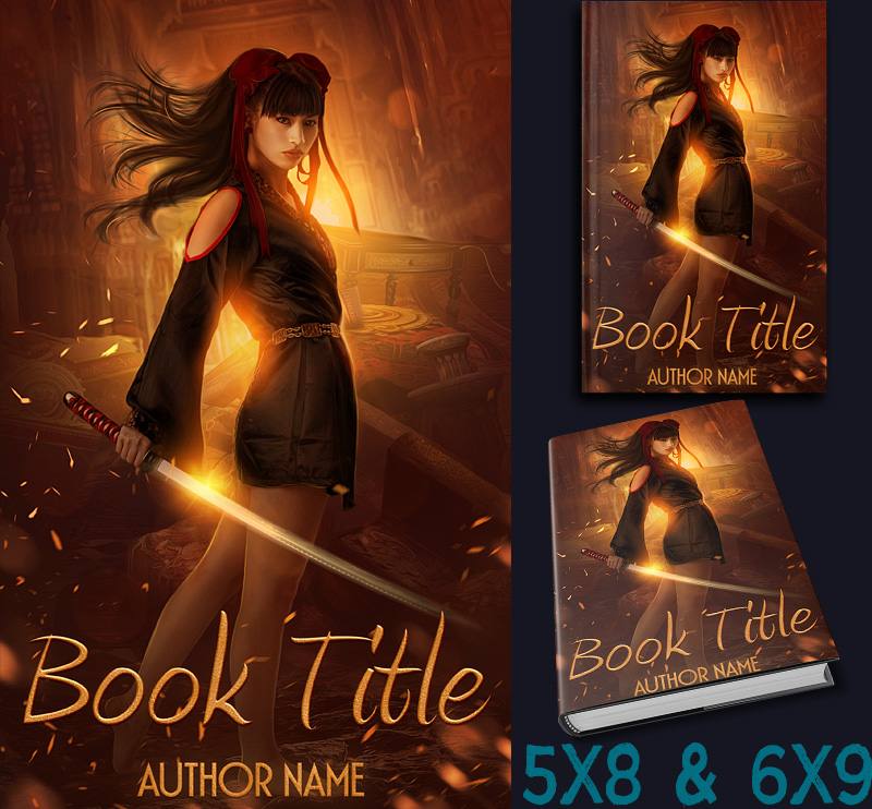 Fantasy Book Cover Typography : Premade book cover adventure urban fantasy