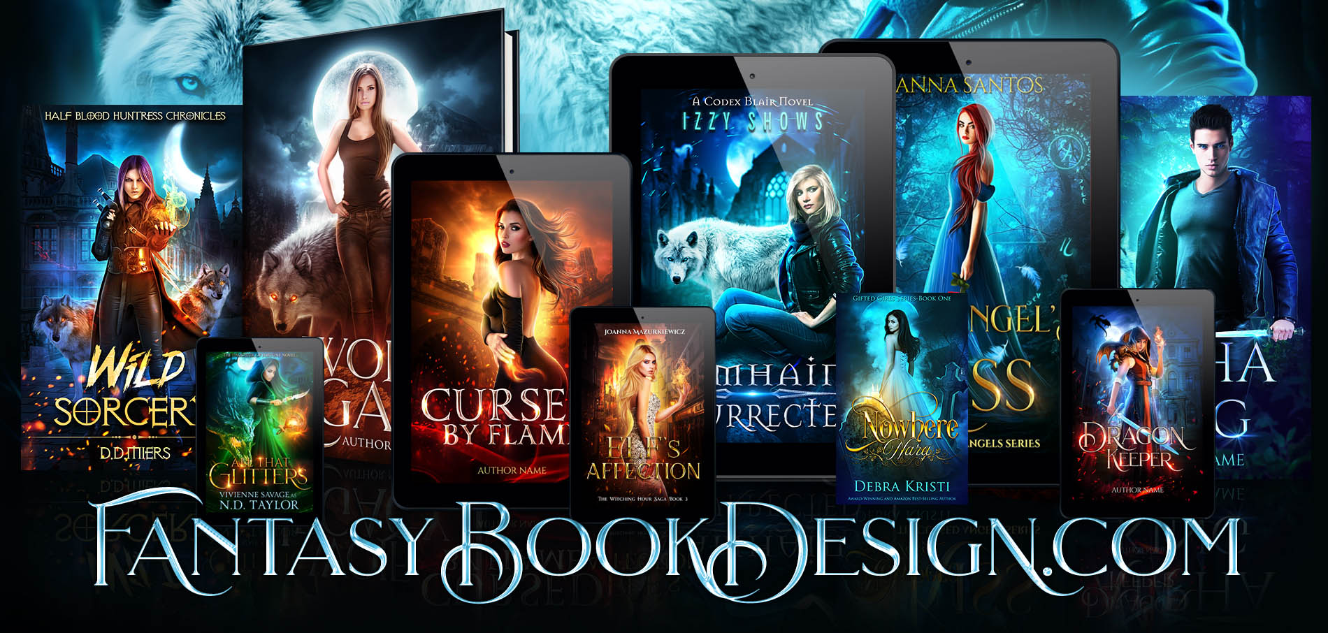 Fantasy Book Cover Design ~ Full wraps portfolio fantasy book design